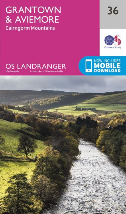 OS Landranger 36 - Grantown and Aviemore - Cairngorm Mountains